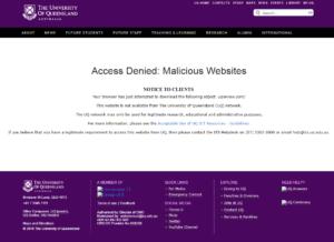 Denial message from UQ Network